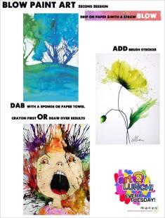 Blow Paint Art Idea Sheet2