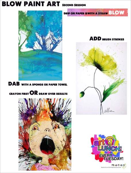 Blow Paint Art Idea Sheet2