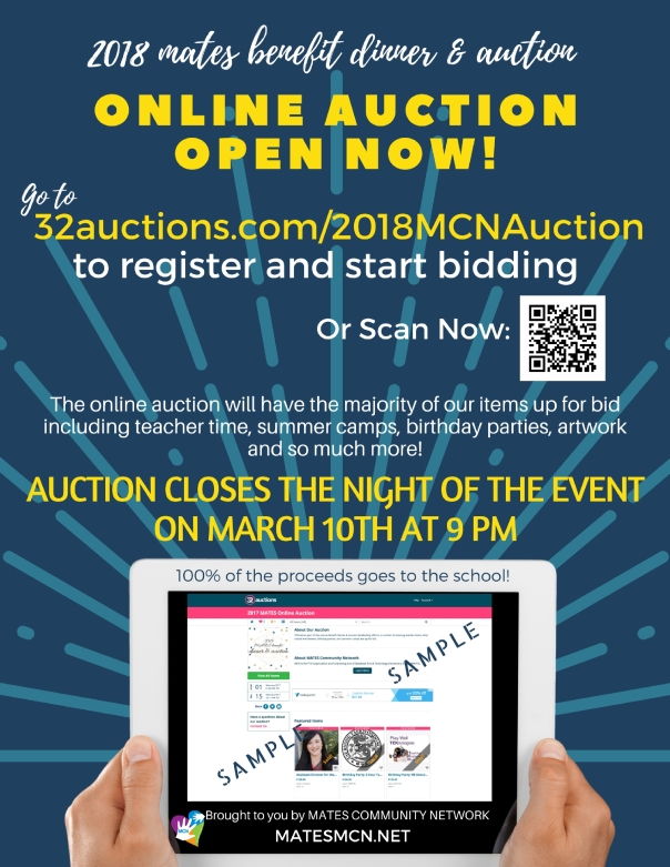 online auction flyer to post