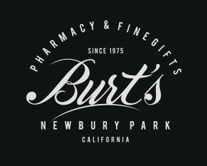 Burt's Pharmacy & Fine Gifts black background copy