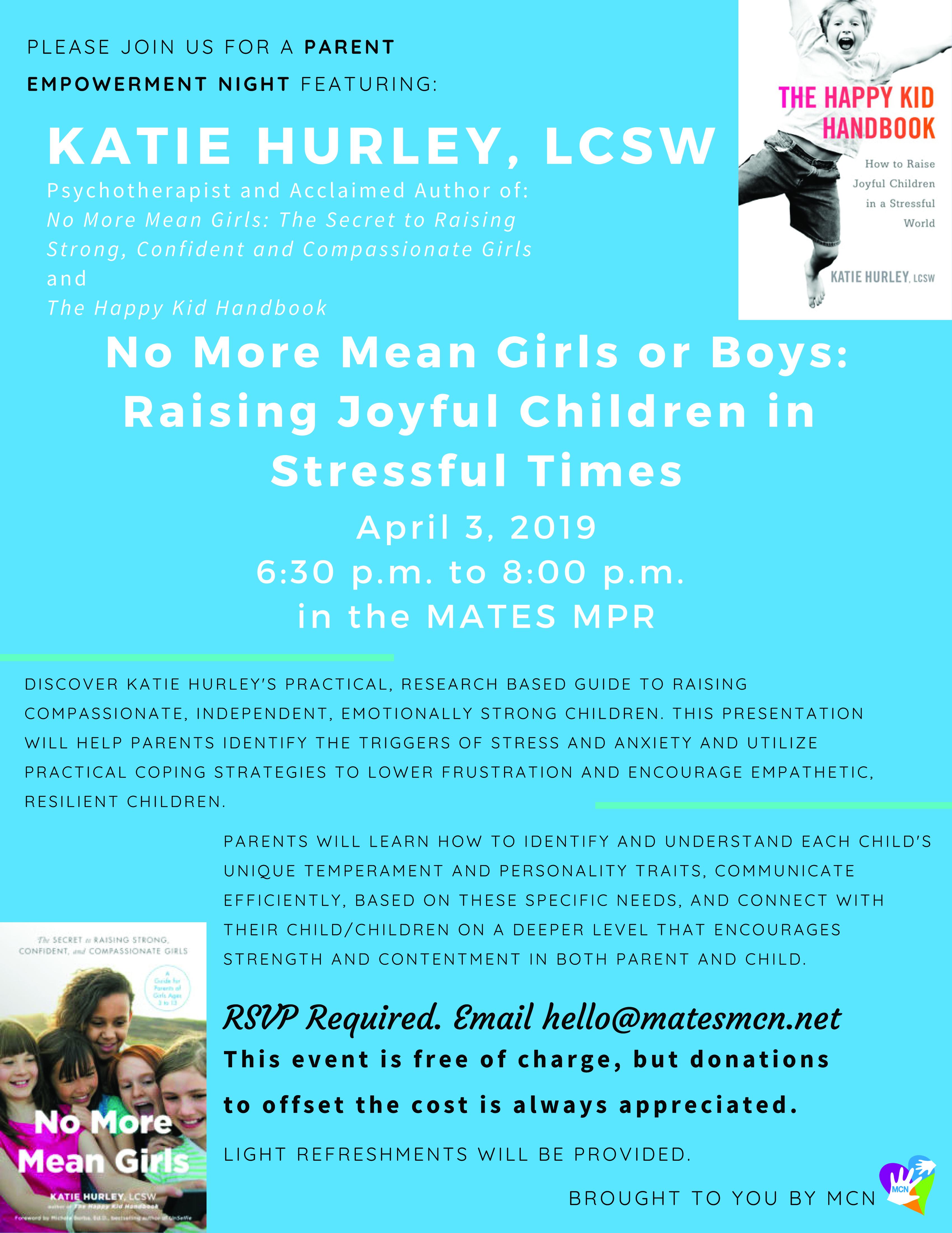 April Parent Empowerment Night Outside of MATES copy