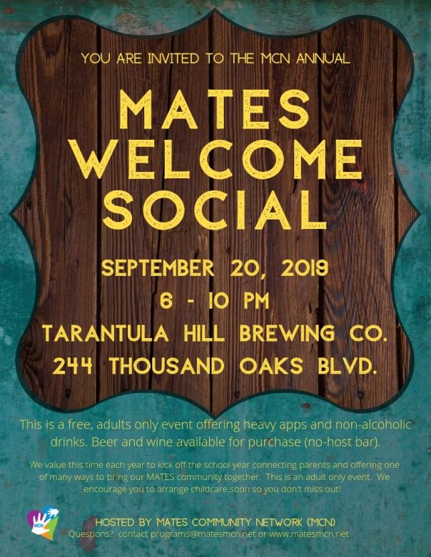 MATES WELCOME SOCIAL